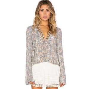 Free People Time of Your Life Top Ivory combo NWT